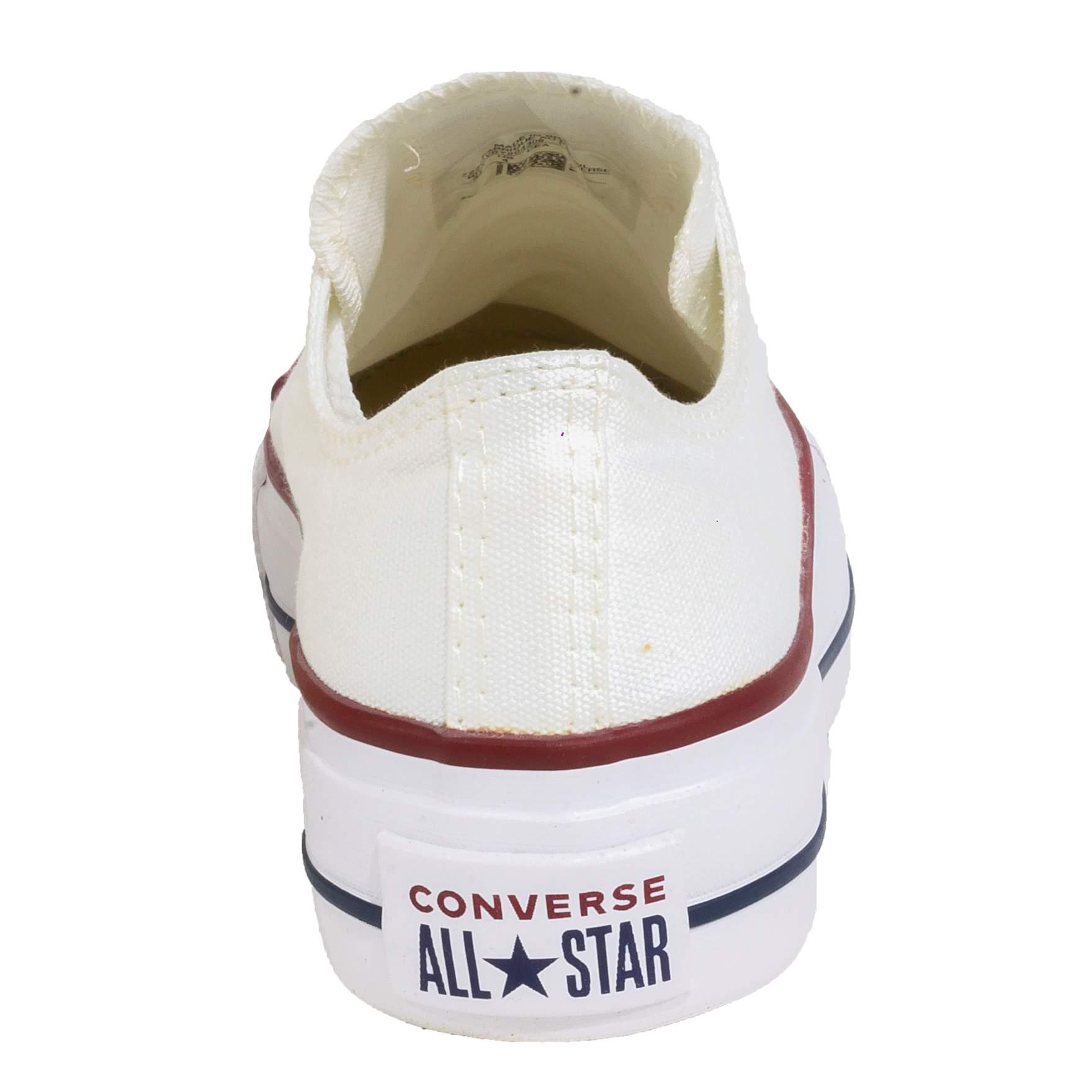Tênis Converse All Star Chuck Taylor Branco Plataforma