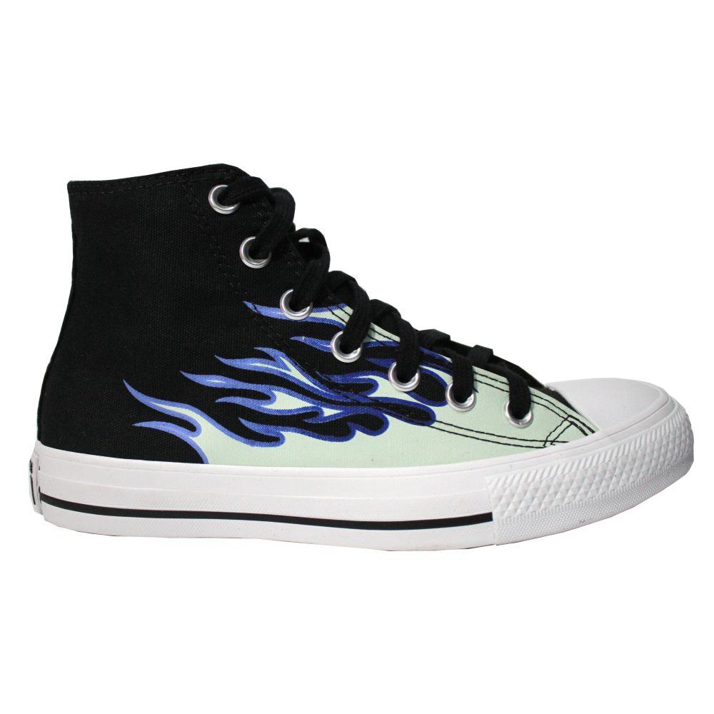 Tênis Converse All Star Chuck Taylor Flames Cano Longo