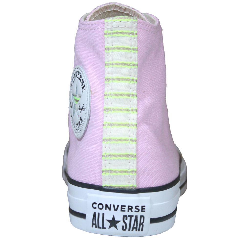 Tênis Converse All Star Chuck Taylor Rosa Pálido Cano Alto