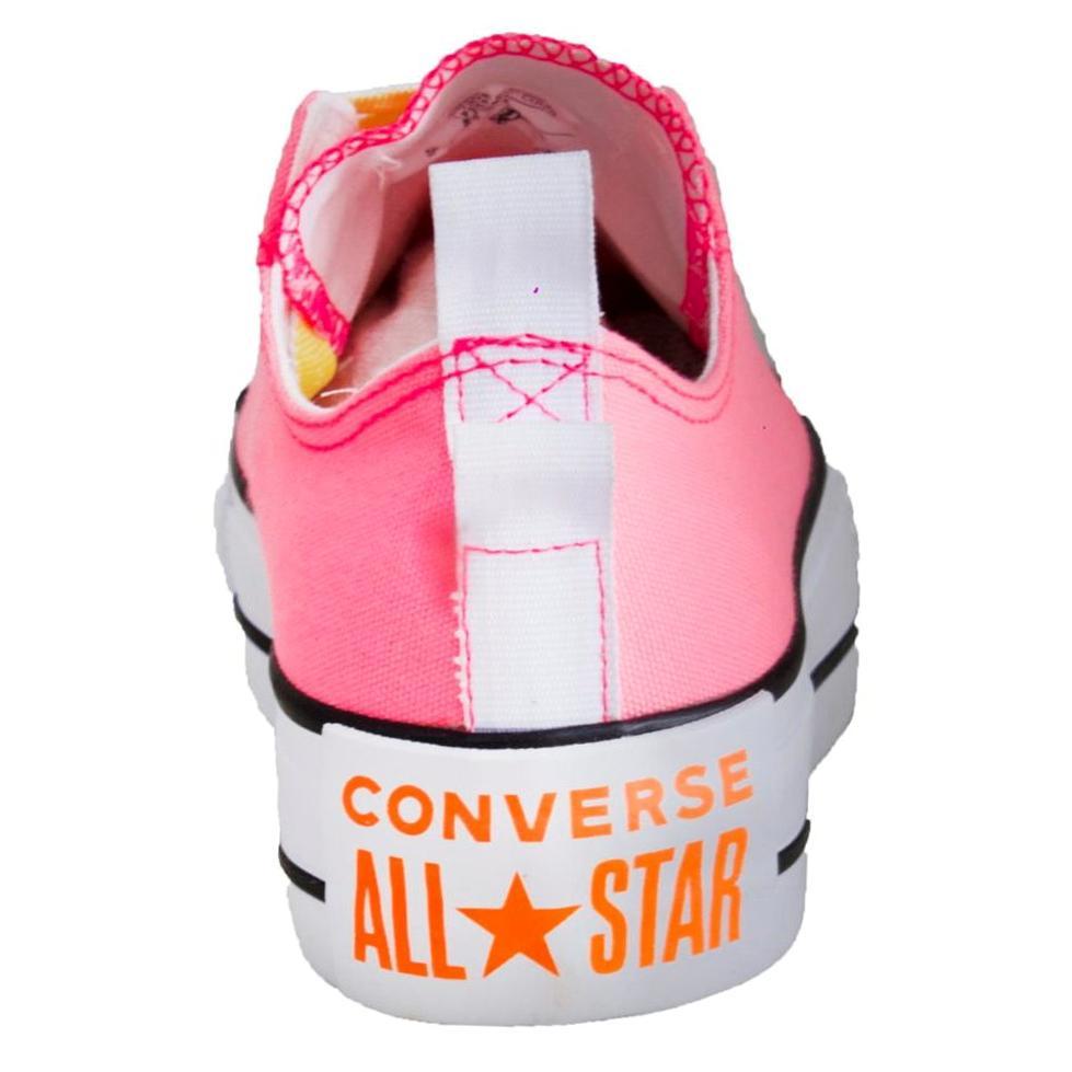 Tênis Converse All Star Chuck Taylor Plataforma Rosa Fluor