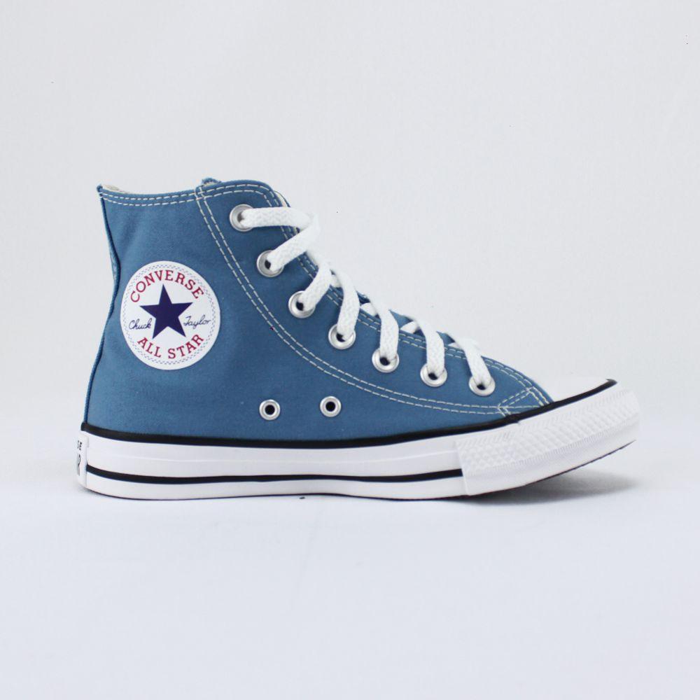 Tênis Converse Chuck Taylor All Star Azul Escuro Cano Logo