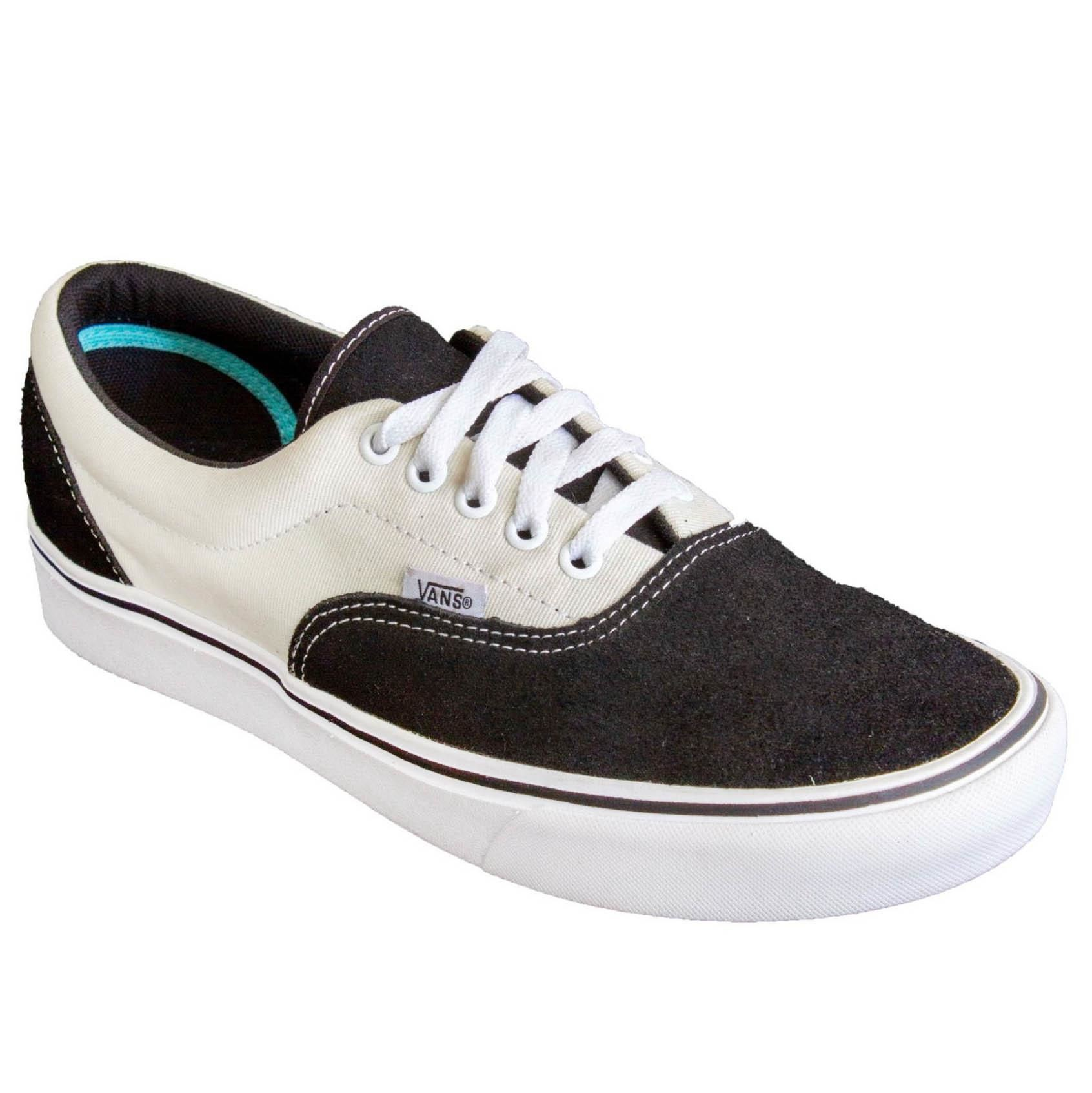 Tênis Vans Comfycush Era Suede Canvas Black-Marshmallow