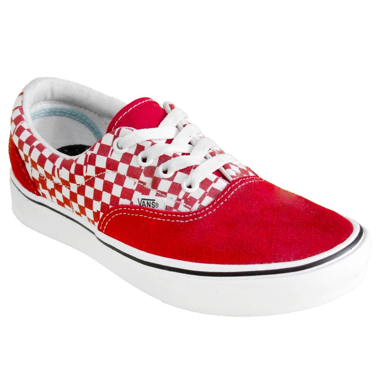 Tênis Vans Era Comfycush Check - Vermelho