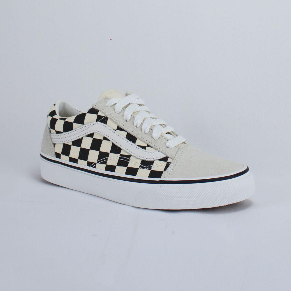 Tênis Vans Old Skool Checkerboard White