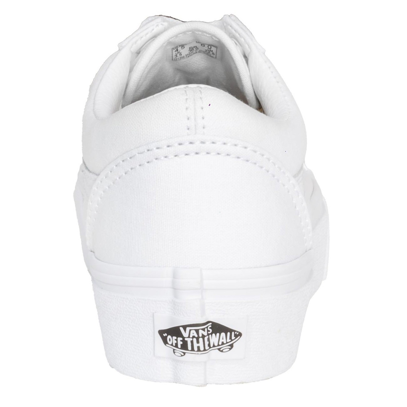 Tênis Vans Old Skool True White Plataforma