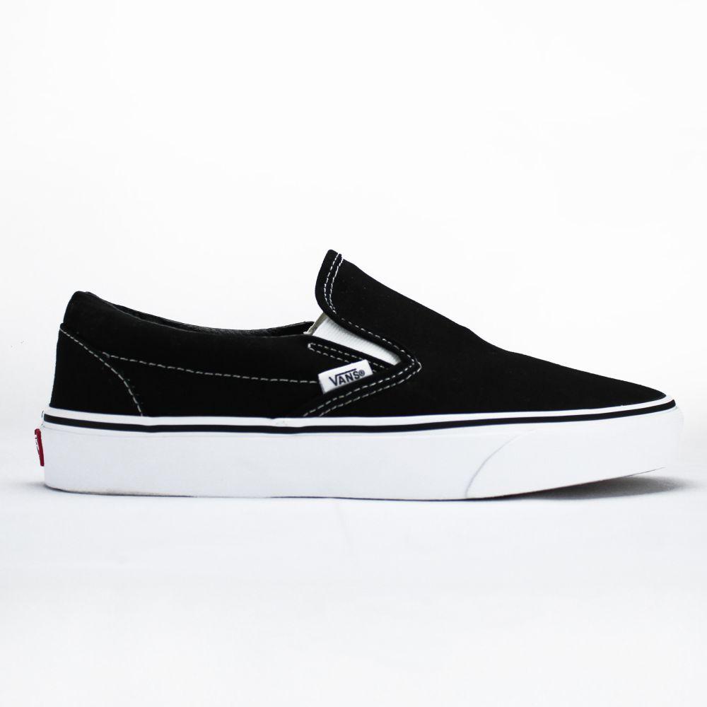 Tênis Vans Slip On Black White