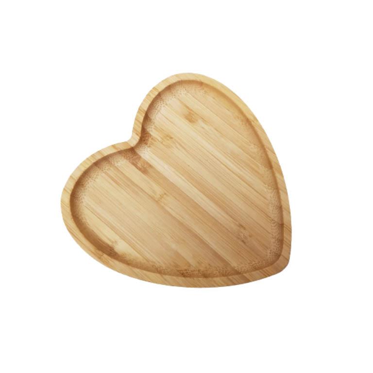 MINI BANDEJA DE BAMBU HEART  12,5CM