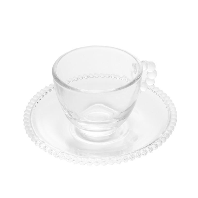 CONJUNTO COM 4 XICARAS PARA CAFE EM CRISTAL PEARL 100ML