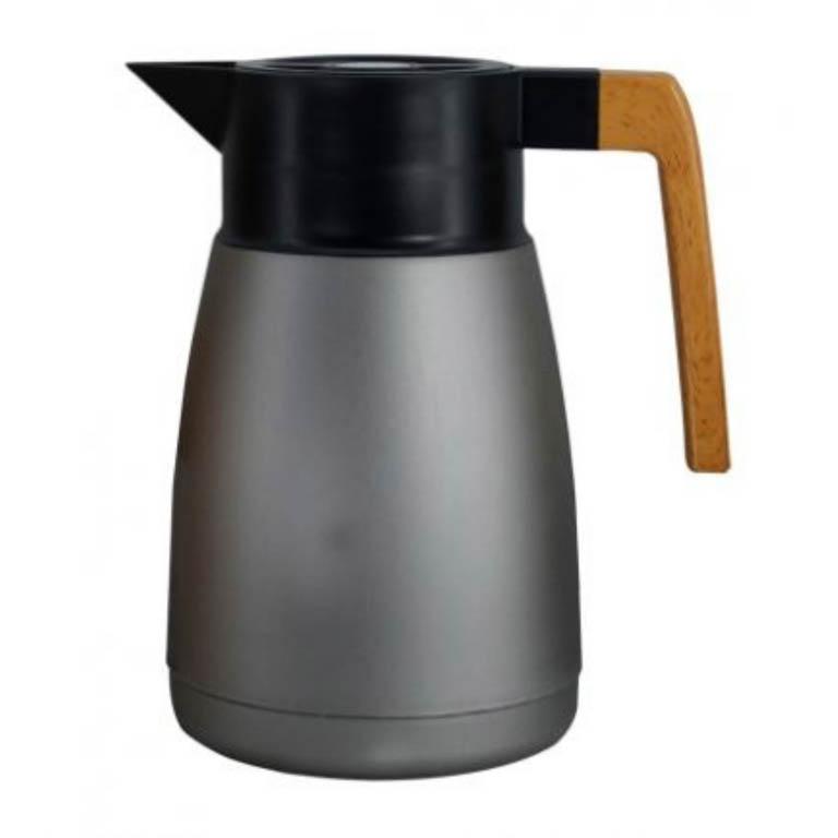 GARRAFA TERMICA COFFEESHOP EM POLIPROPILENO CINZA METALICO 1L