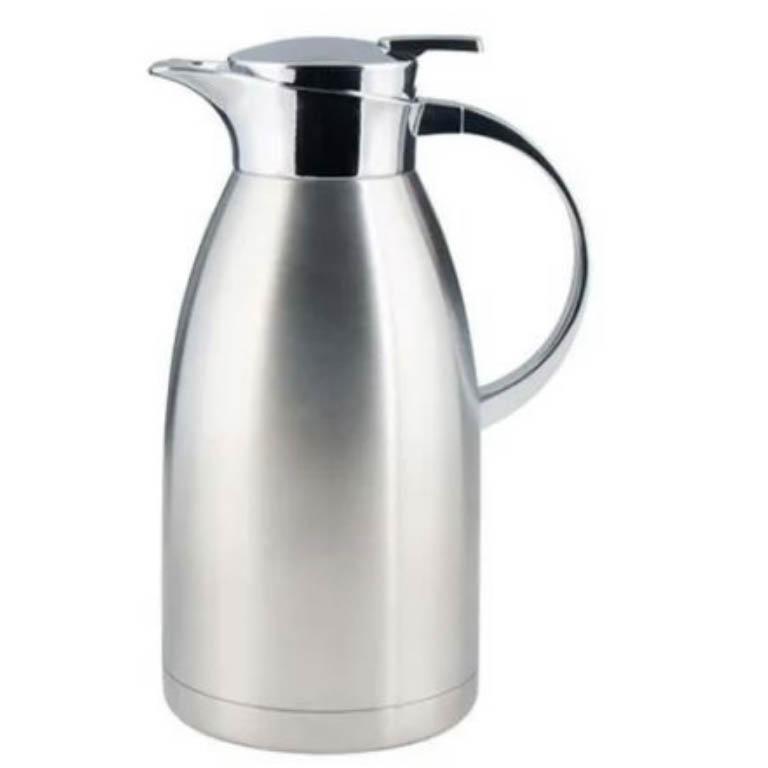 GARRAFA TERMICA PARA CAFE EM AÇO INOX PAREDE DUPLA PRATA FOSCO 1,5L