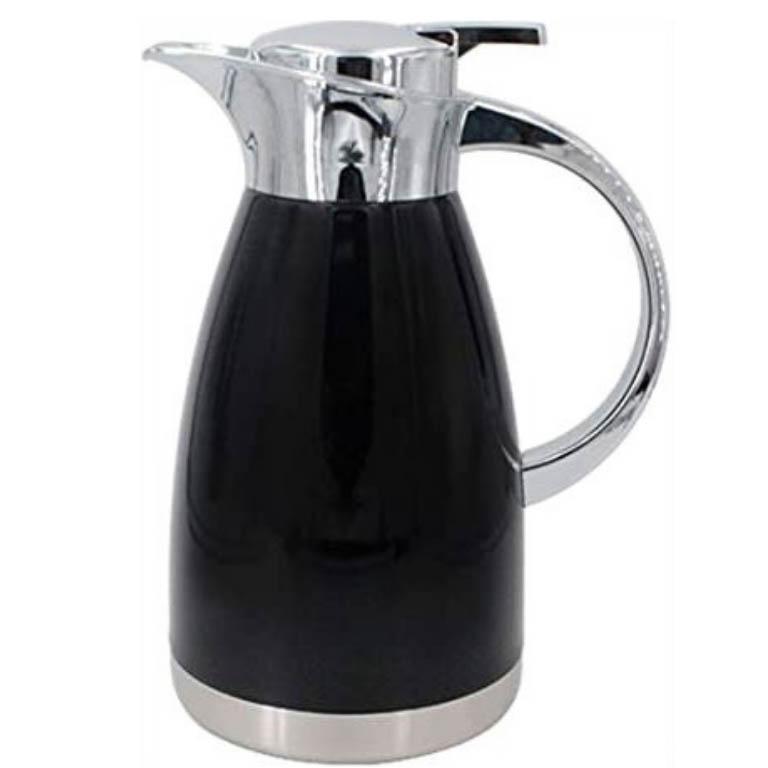 GARRAFA TERMICA PARA CAFE EM AÇO INOX STUDIO PRETA 1,5L