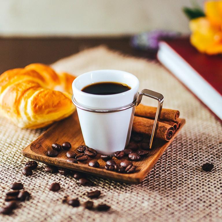 JOGO 6 XÍCARAS CAFÉ COM PIRES MADEIRA TECA 75ML