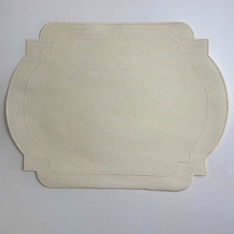 LUGAR AMERICANO LINHO OFF WHITE ENGOMADO 40X52CM