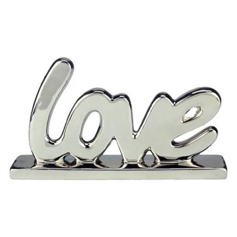 LOVE LETRAS PORCELANA DECORATIVO