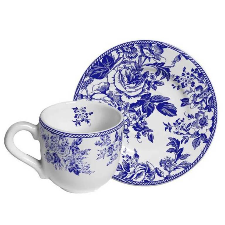 XICARA PARA CAFE COM PIRES BLUE GARDEN 100ML
