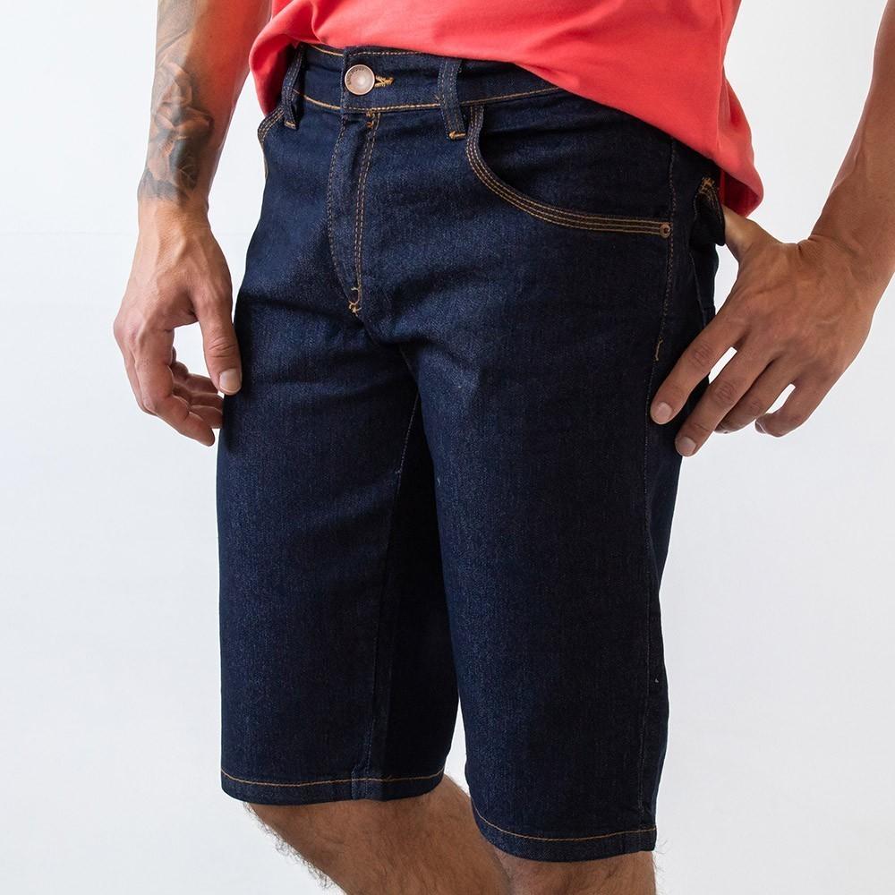 Bermuda Masculina Jeans Slim Forro Elastano Anticorpus