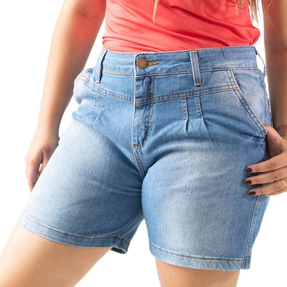Bermuda Mom Jeans Feminino Cintura Alta Anticorpus