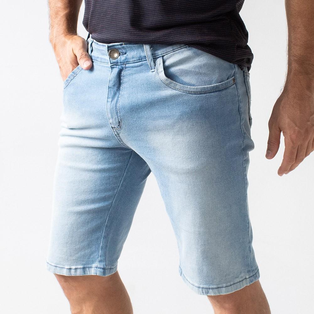 Bermuda Skinny Jeans Claro Délavé Masculina Anticorpus