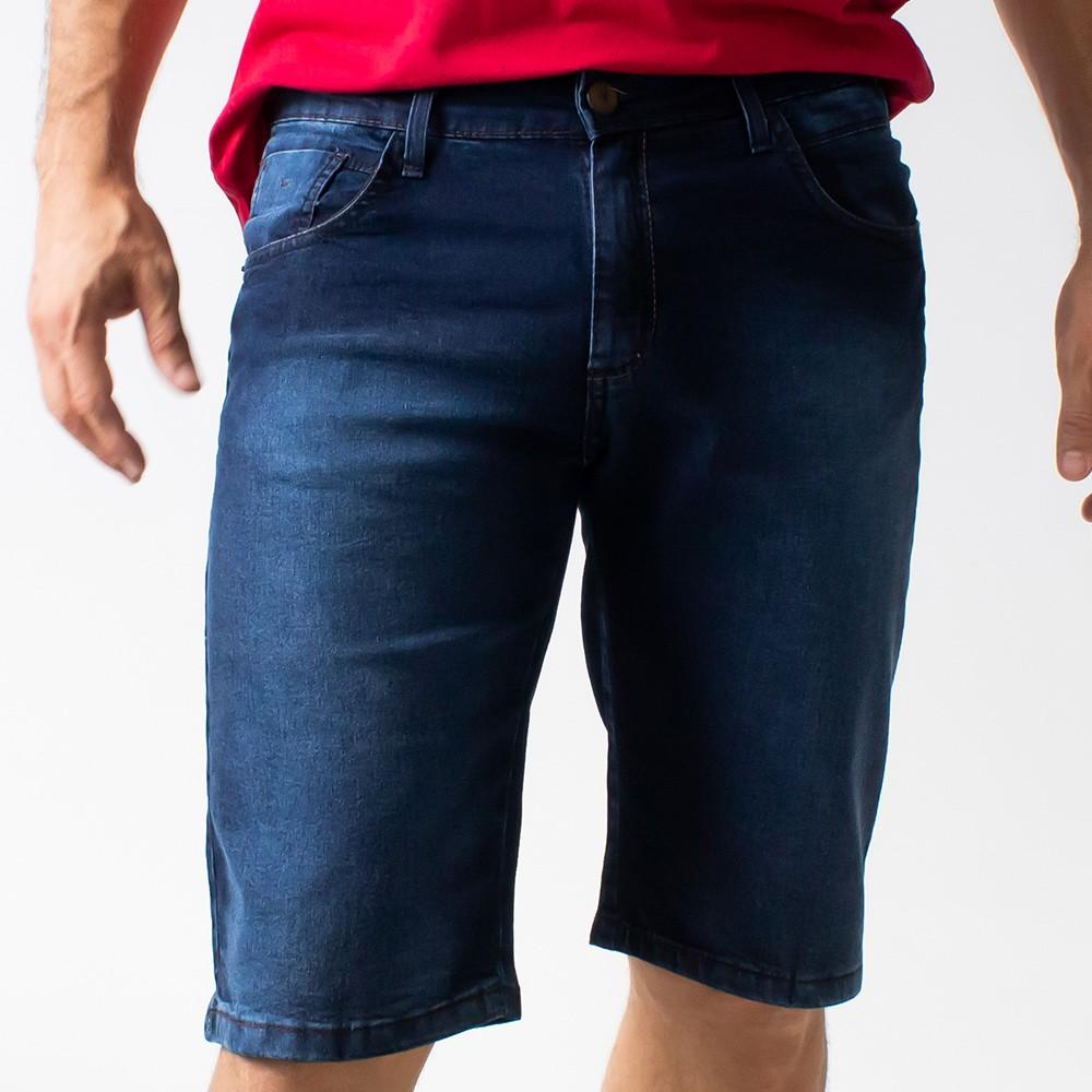 Bermuda Slim Jeans Masculina Forro Elastano Anticorpus