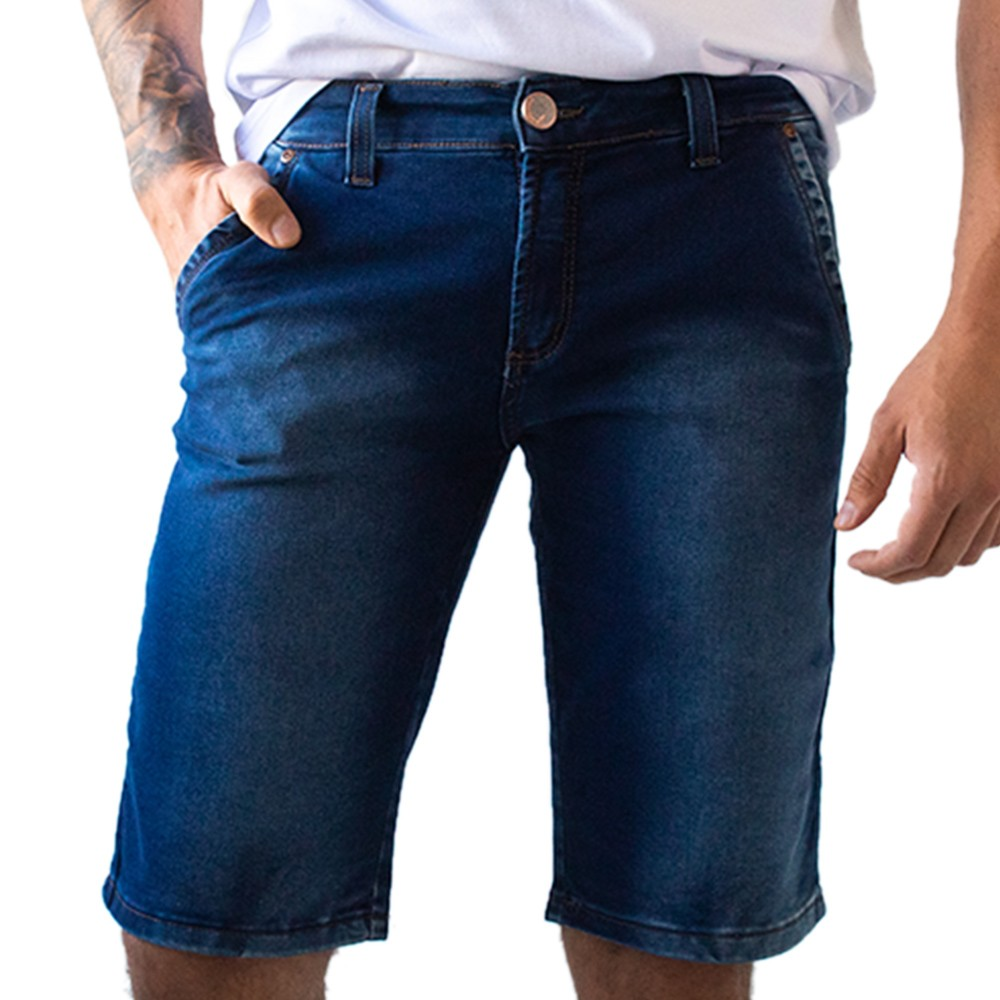 Bermuda Slim Masculina Jeans Stretch Anticorpus