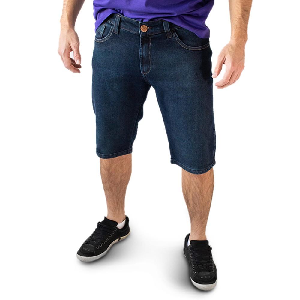 Bermuda Jeans Masculina Slim Elastano Anticorpus