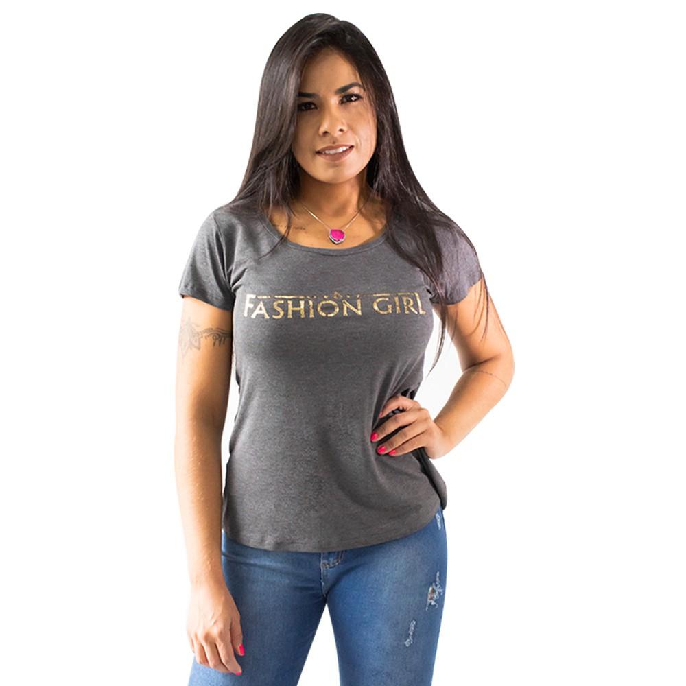 Blusa Feminina Estampada Malha Manga Curta Elastano Anticorpus