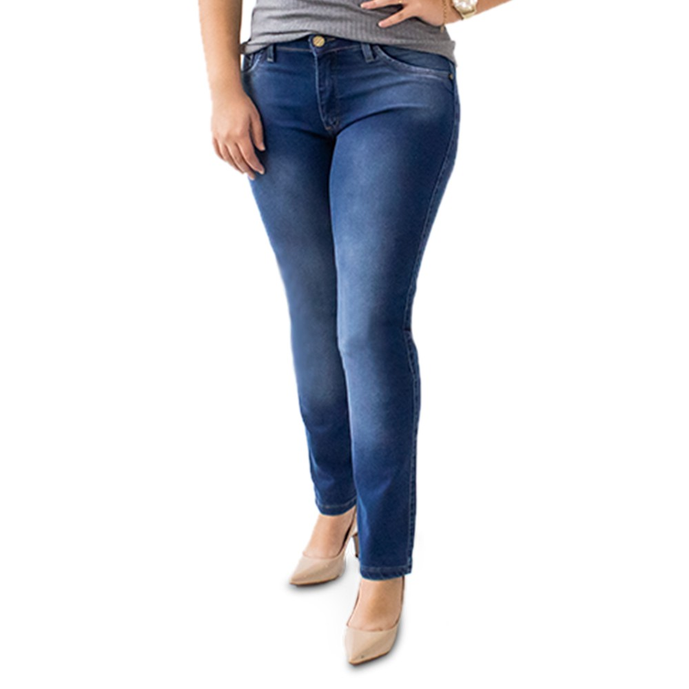 Calça Jeans Cigarrete Plus Size Feminina Anticorpus