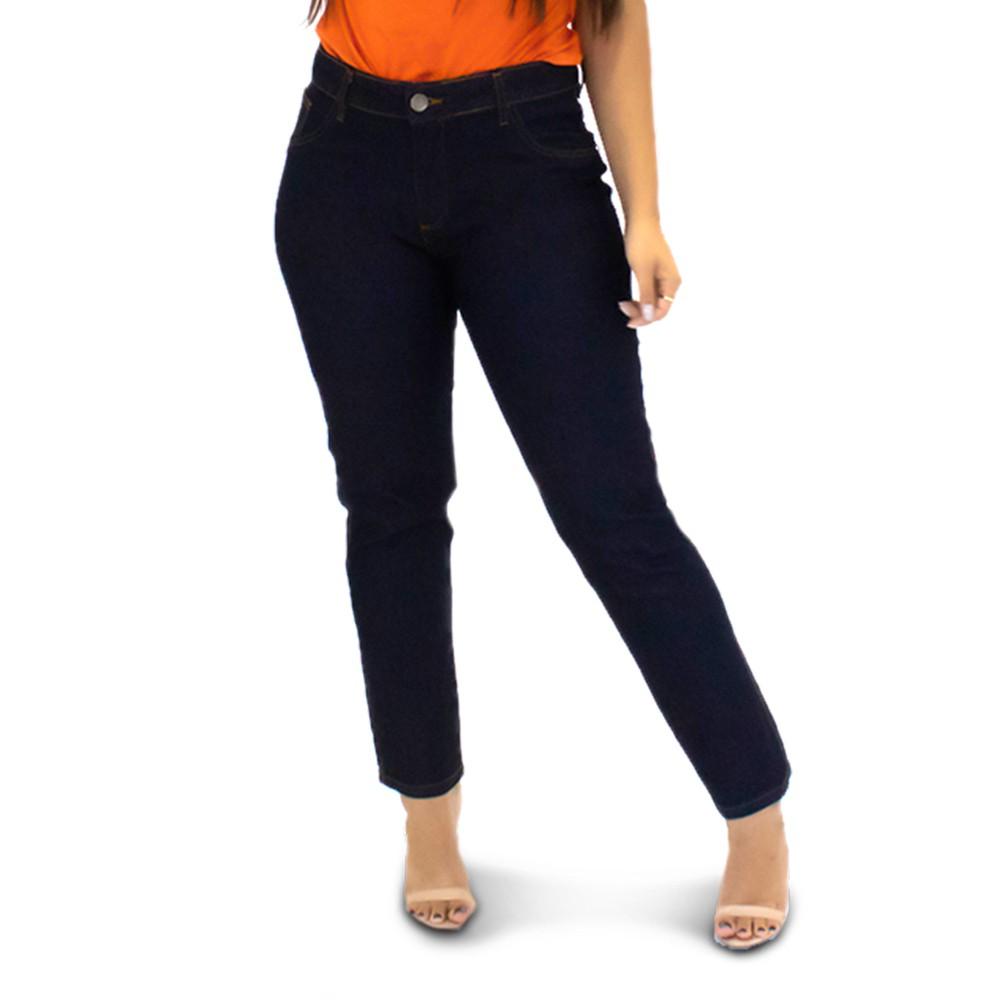 Calça Jeans Feminina Cigarrete Plus Size Azul Escuro Anticorpus