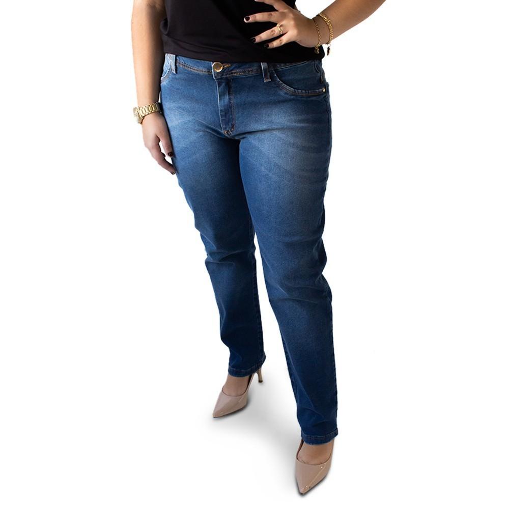 Calça Jeans Feminina Cigarrete Plus Size Elastano Anticorpus