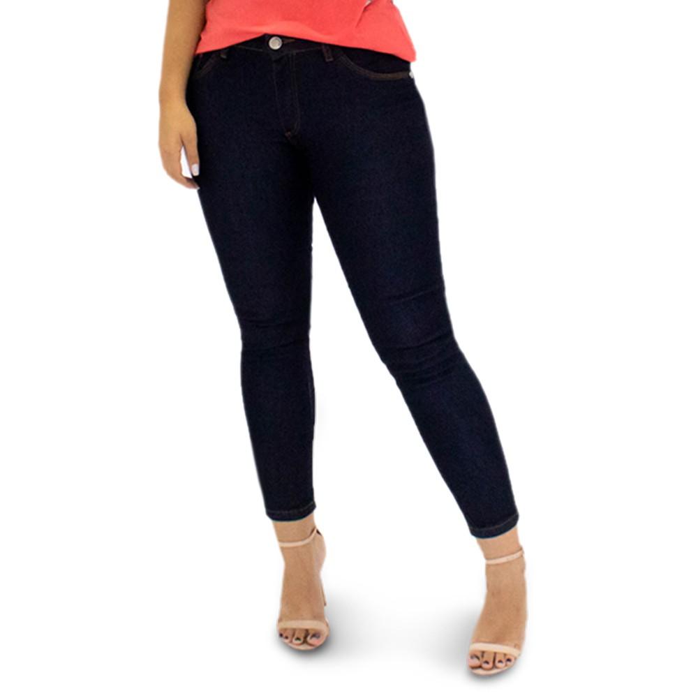 Calça Jeans Feminina Cropped Cintura Média Elastano Anticorpus