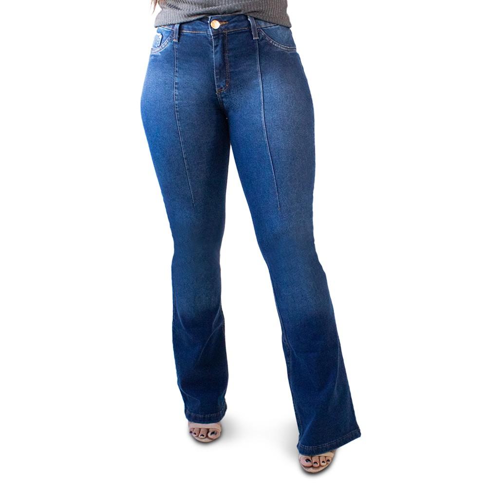 Calça Jeans Feminina Flare Cintura Alta Elastano Anticorpus