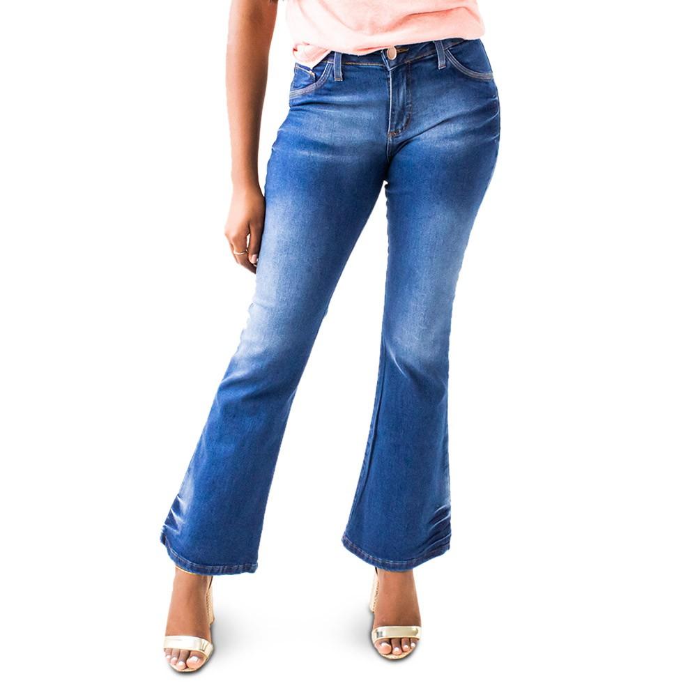 Calça Jeans Feminina Flare Petit Bolso Falso Anticorpus