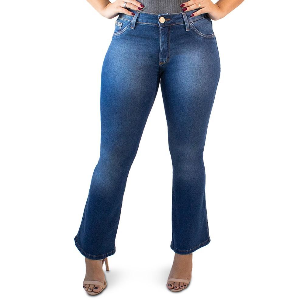 Calça Jeans Flare Petit Feminina Cintura Media Anticorpus