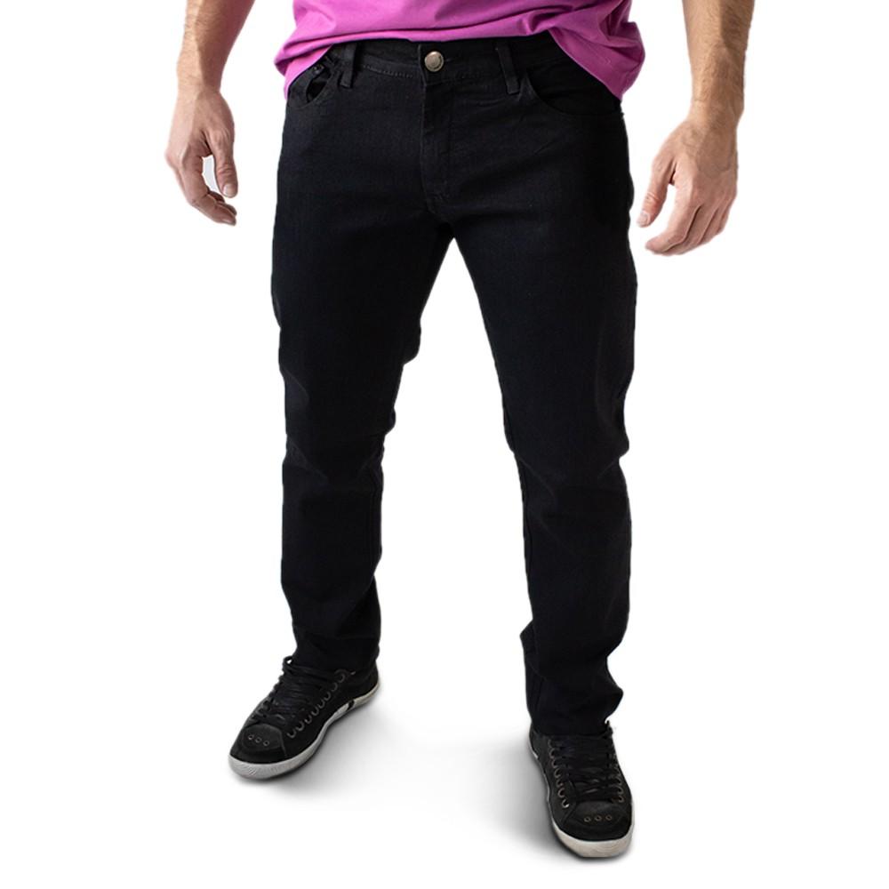 Calça Jeans Masculina Skinny Preta Forro Elastano Anticorpus