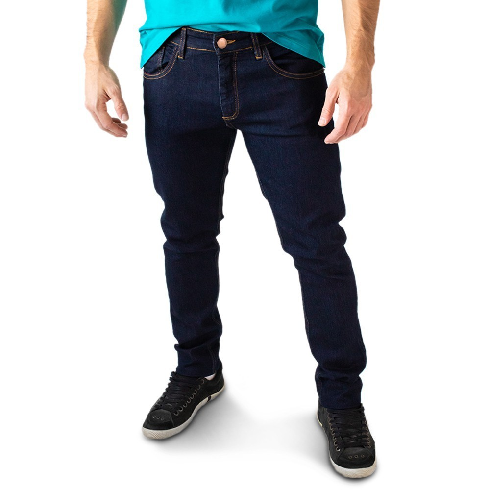 Calça Jeans Masculina Super Skinny Azul Escuro Anticorpus