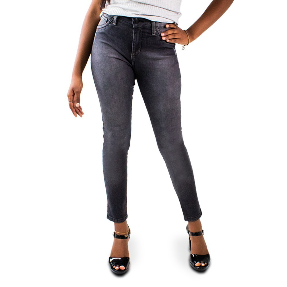 Calça Jeans Preto Feminina Cropped Cintura Alta Anticorpus