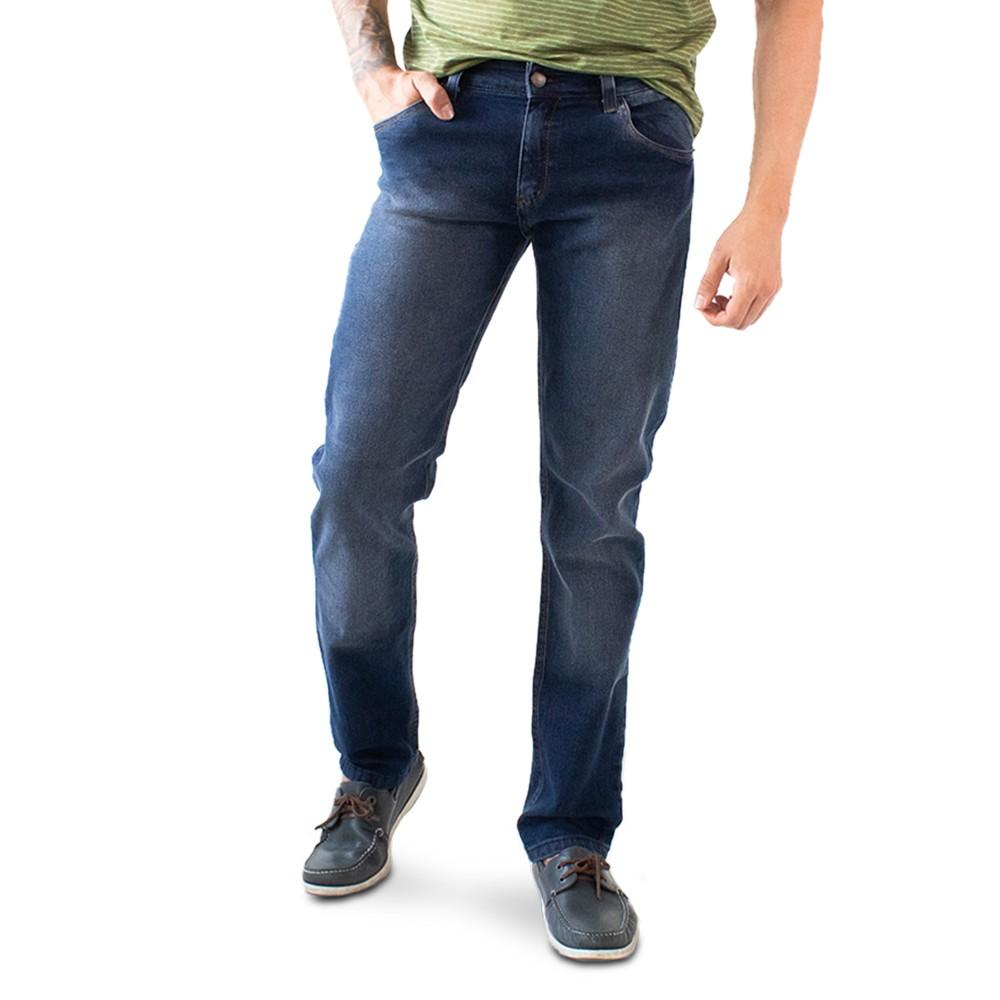 Calça Jeans Slim Masculina Escura Básica Anticorpus