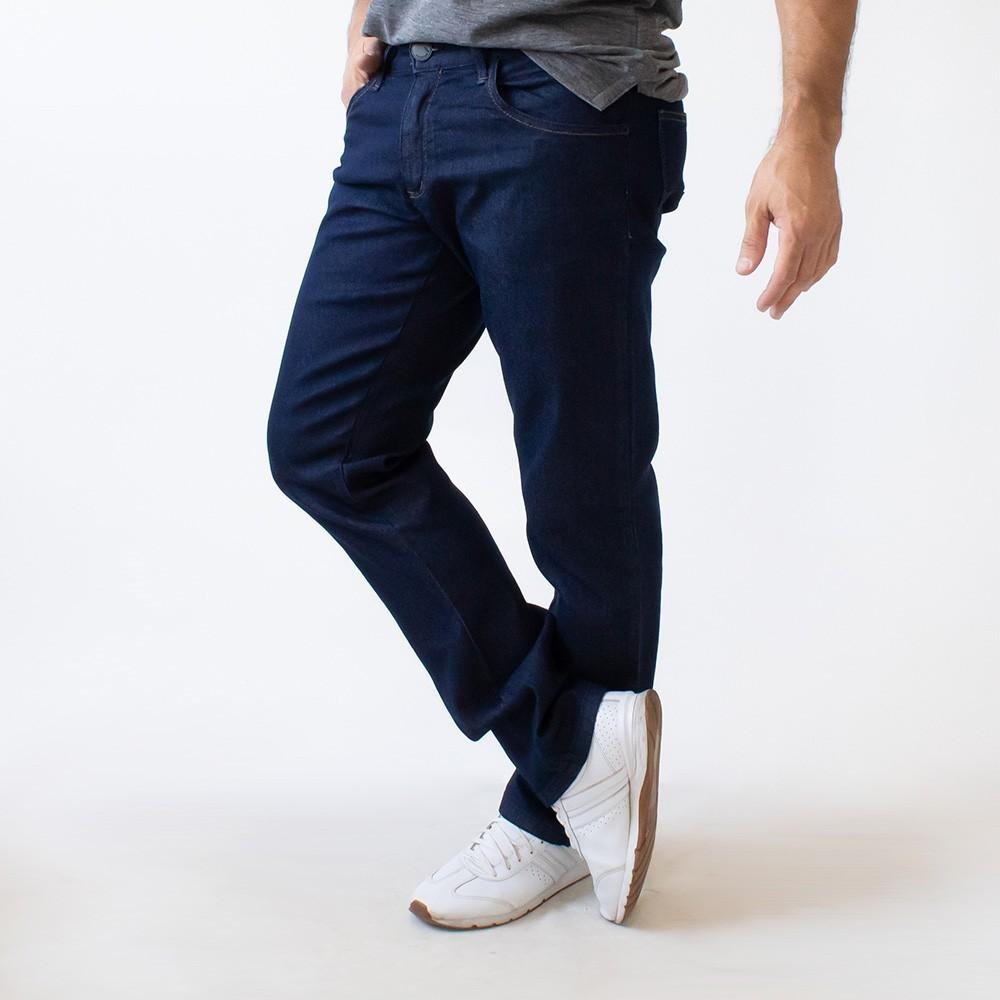 Calça Jeans Slim Masculina Escura Clássica Anticorpus