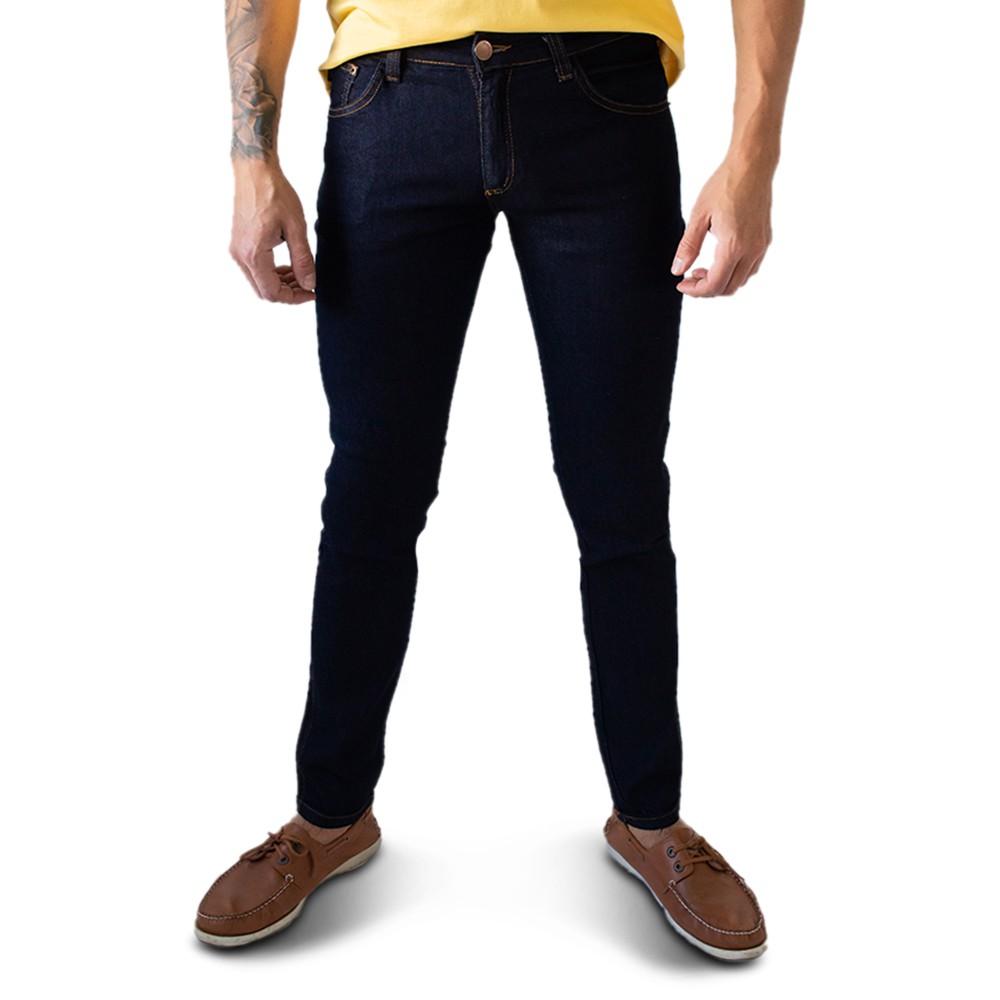 Calça Masculina Jeans Escuro Skinny Forro Elastano Anticorpus