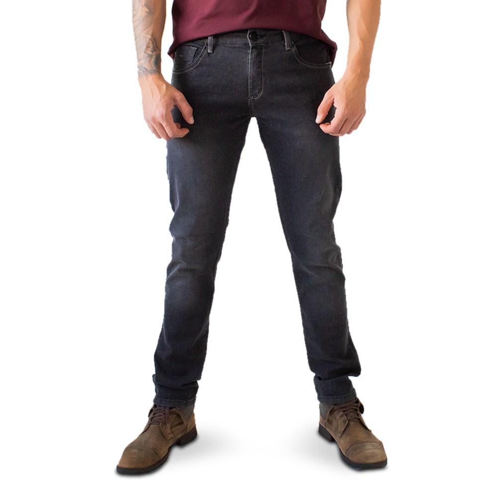 Calça Masculina Skinny Jeans Preto Básica Anticorpus