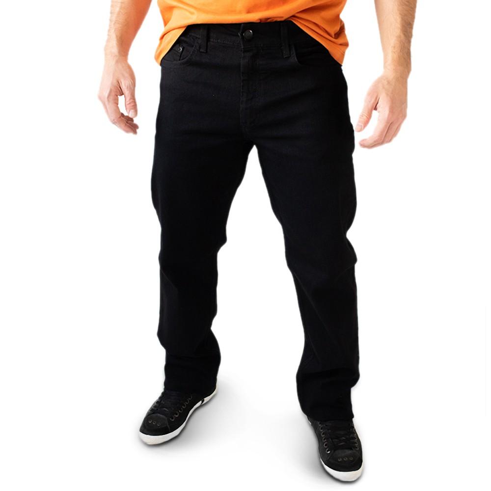 Calça Masculina Tradicional Jeans Preto Elastano Anticorpus