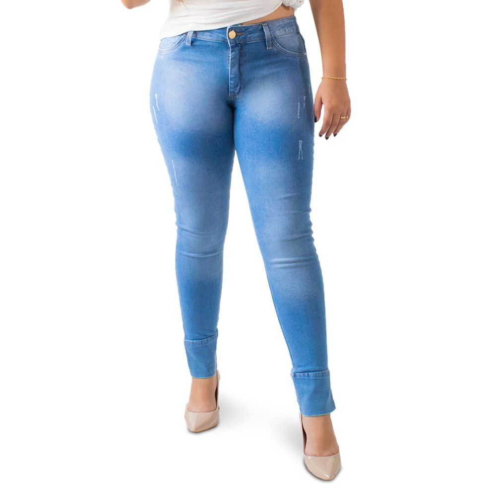 Calça Skinny Jeans Feminina Puídos Anticorpus