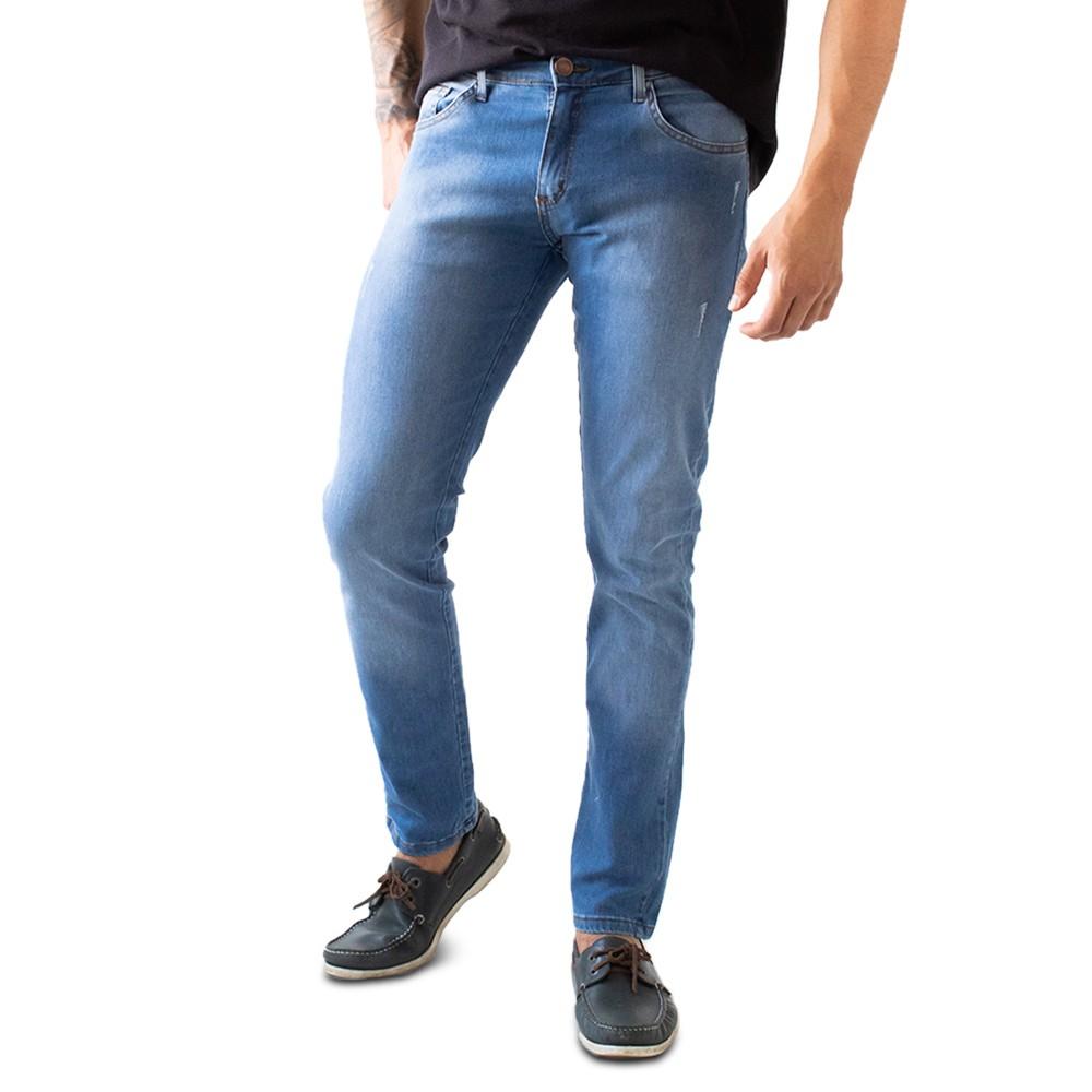 Calça Skinny Jeans Masculina Puídos Anticorpus