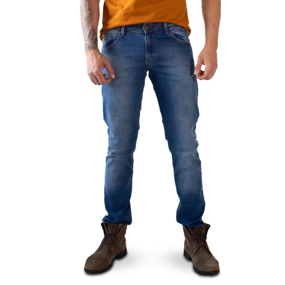 Calça Skinny Jeans Masculina Stretch Azul Denim Anticorpus