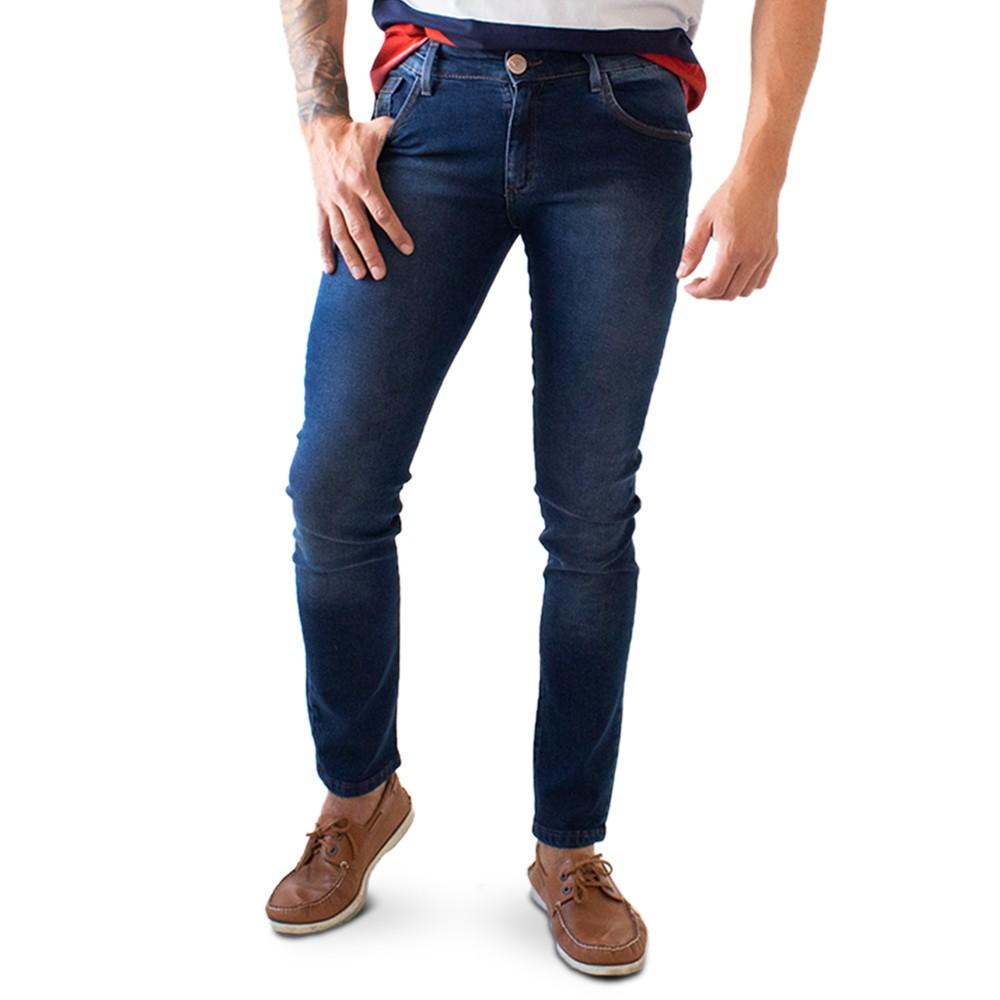 Calça Skinny Masculina Jeans Escuro Básica Anticorpus