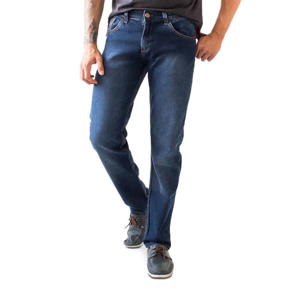Calça Slim Jeans Masculina Escura Básica Anticorpus