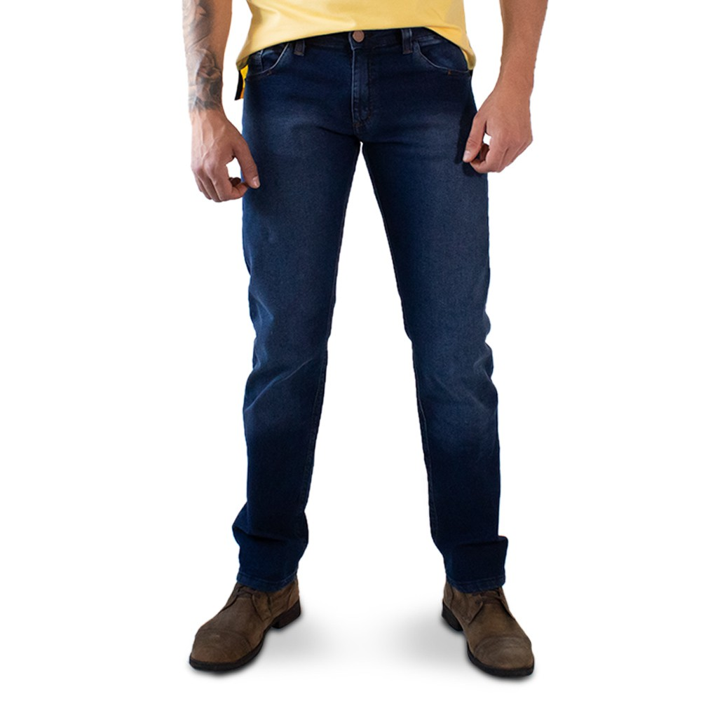 Calça Slim Jeans Masculina Stretch Básica Anticorpus