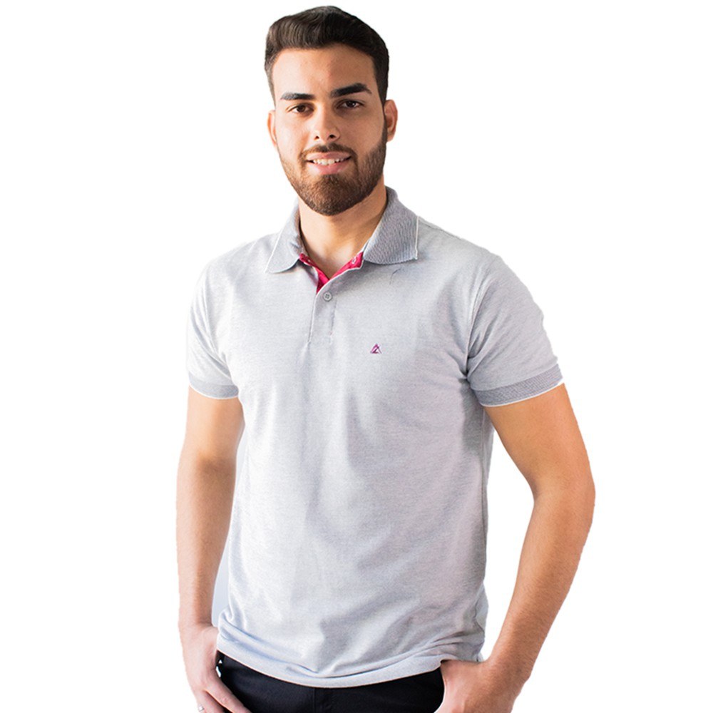 Camisa Gola Polo Masculina Tradicional Várias Cores Anticorpus