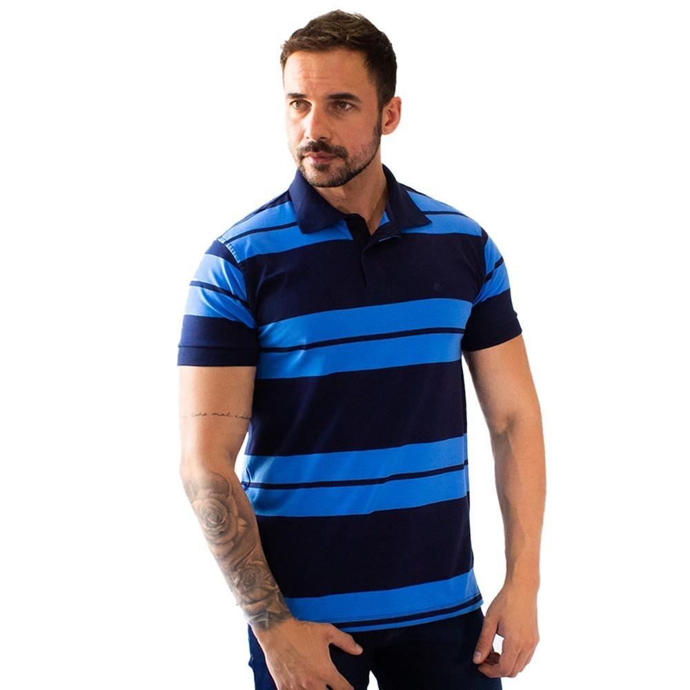 Camisa Polo Masculina Listrada Várias Cores Anticorpus