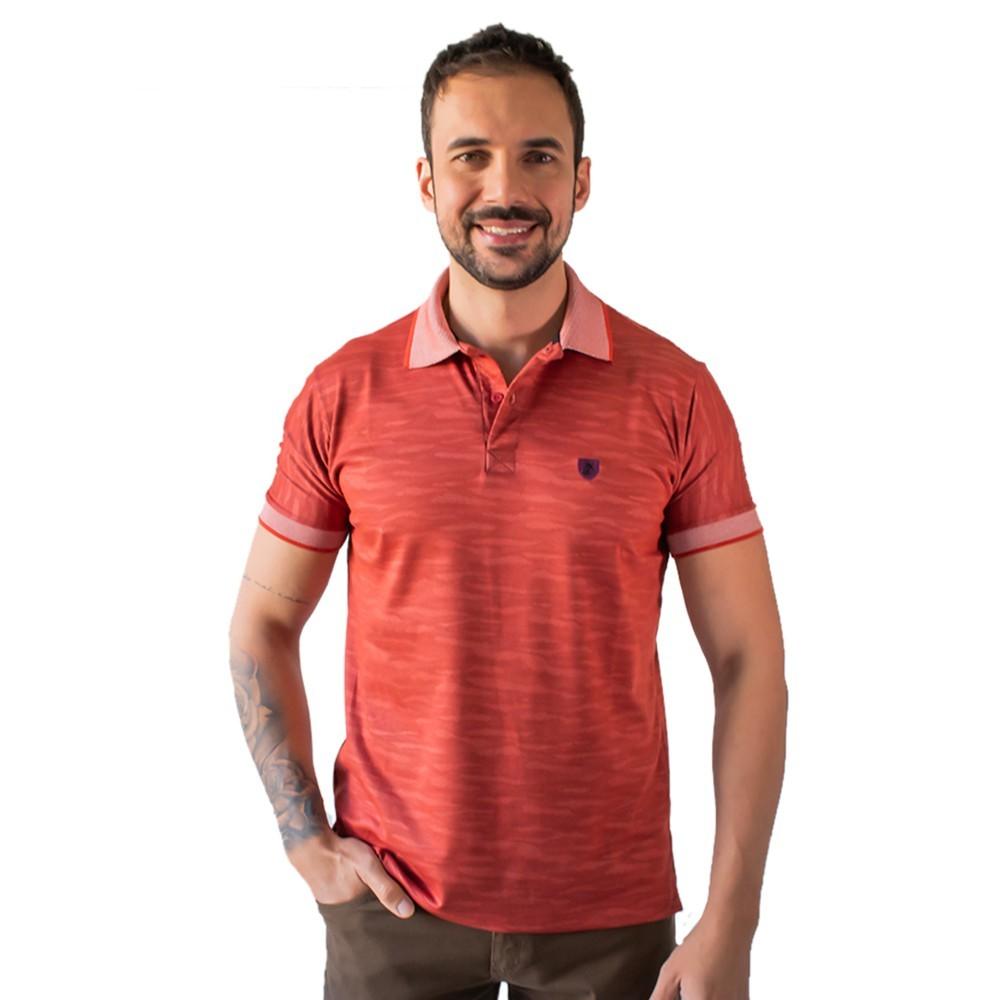 Camisa Polo Masculina Verde Vermelha Açafrão Algodão Anticorpus